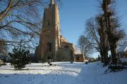 burwell Church in the snow